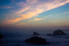 Heart of the Blue Hour (San Francisco Gal) Tags: sunset bluehour landsend sanfrancisco cloud ocean rock heart sky pacific oceanbeach