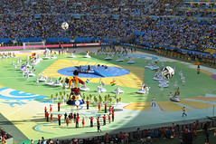 Colorful performance preceeding the Germany vs Argentina final - FIFA World Cup 2014, Brazil