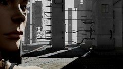 Emma in the Future (Myra Wildmist) Tags: secondlife sl myrawildmist virtualphotography virtualart closeup grim dark grey gray