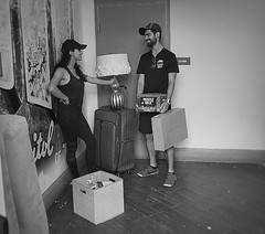 Back To School (Halcon122) Tags: couple students ut austin offcampus candid bw streetphotography olympusm5markii