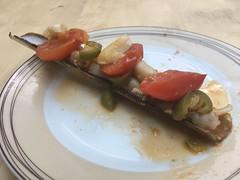 Razor clams with Tomato and Chilli (jlarsen2006) Tags: razor watford hertfordshire tomato chilli spicy clams dish uk food