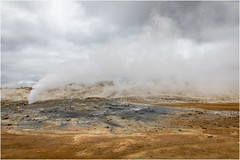 steam (:: Blende 22 ::) Tags: volcanicactivity volcaniccrater lava caldera black stones crater hot geothermalactivity solfataras fumaroles mud pots springs steamyregion mudpools geysirfield hverasandar lowtemperaturefield siliceoussinter strokkur georhermal areas geysir dampf steam earth color canoneos5dmarkiv ef2470f28liiusm iceland water wasser fountain road