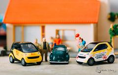 Smart & BMW Isetta (lemcong91) Tags: hobby diecast smart bmw isetta busch diorama 187 ho preiser