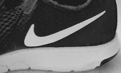 "Walk Don't Run! -Macro Mondays -""Staying Healthy"" (Karon Elliott Edleson) Tags: blackandwhite shoe macromondays stayinghealthy health walk run keepingfit macro macrophotography diffusion nike nikefree"