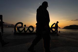 Sunrise @Copacabana Beach,Rio de Janeiro,Brazil