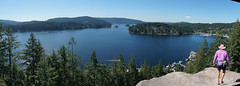 Deep Cove Lookout (rovingmagpie) Tags: canada vancouver britishcolumbia deepcovelookout deepcove can150 pinkhat panorama pano