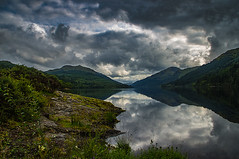 Perfect Loch Eck (Brian Travelling) Tags: perfect locheck reflection rocks shore clouds pentaxkr pentax peaceful peace cloud landscape argyllshire argyll scotland scenery scenic