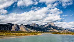 Athabaska River (martincarlisle) Tags: athabaskariver jaspernationalpark alberta canada canadianrockies rockymountains rockies rockymountainparks nationalparks parks rivers mountains clouds trees canonxsi450d tamronlenses photoninja niksoftware colourefex nwn