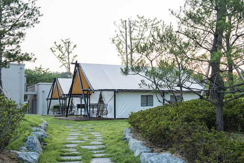 canvas glamping tent Korea5