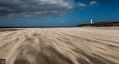 windy day on beach (schda22) Tags: scotland lossiemouth beach wind fun great sand lighthouse