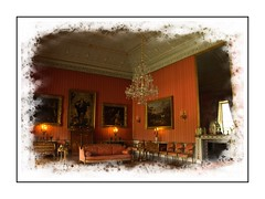 Warm Glow of Shugborough Hall (Audrey A Jackson) Tags: canon60d shugboroughhall nationaltrust history pictures chairs sofas lamps chandelier fireplace