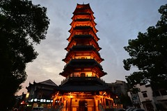 Anting - Yong An Pagoda (cnmark) Tags: china shanghai jiading district anting town old street yong an pagoda tower architekture architektur turm volkswagen scenic area dusk 中国 上海 嘉定区 安亭镇 安亭老街 永安塔 ©allrightsreserved