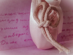 Dancing towards health (seize the love) Tags: macromonday healthy dance ballerina dancingshoe pink macro closeup pointe keychain text writing soft