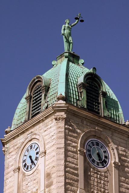 Rockingham County Courthouse (clock tower detail) - Harrisonburg, VA