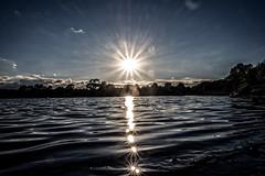 Just for fun, straight at the sun (Peter Leigh50) Tags: sun sunshine burst glare glint reflection reflections water wet ripple sky saddington reservoir leicestershire countryside fugifilm fugi xt10