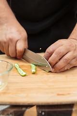 217_LauriePerez.com (AnaVillarrealG) Tags: cut cutting knife cuchillo chef cook cocinero jalapeno chile prepare preparing preparar