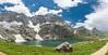 The scintillating GADSAR lake (FROZEN ! !) Tags: sky blue green meadow valley glacier lake snow trek hike kashmir india himalayas panorama explore aqua nature ngc