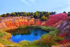 cava di bauxite... bauxite quarry (Domenico F. Greco photo) Tags: bauxite cava puglia salento otranto mare sea water acqua nature natura paesaggi panorami landscapes