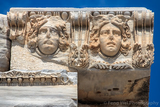 Stone Relief, Ruins Of The Temple of Apollo, Side, Antalya, Turkey