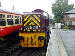 D9523 . (steven.barker57) Tags: class 14 ncb teddy bear d9532 maroon british rail railways uk england wensleydale railway heritage line preserved diesel locomotive train trains leeming bar