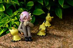 Who are you?? (AeroHail) Tags: toyphotography busoushinki 武装神姫 パーティオ busou shinki partio mimikyu pokemon nintendo toy figure nerd