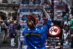 Stunt Magician (jporter17191) Tags: edinburgh street festival act stunt magician royal mile poster billboard fringe 2017 posters royalmile high performer scotland advert woman people man