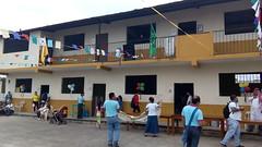 Monitores y colaboradores en el encuentro de jovenes de confirmacion en la parroquia de la Stma. Trinidad de Guayacan