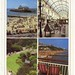 Multiview postcard including Bournemouth Pier, the Gervis Arcade and Lower Gardens, Bournemouth, Dorset