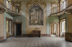 The Painting (ProfShot - Perry Wiertz) Tags: urban urbex urbenexploring painting paintings floor light decayed decay derelict piano ceiling villa chateau traveling travel abandoned rust old hidden lost forbidden forgotten window door