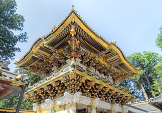 Yomeimon door.. Tōshō-gū Nikko .. Unesco world heritage.