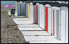 La meilleure place -  The best place (diaph76) Tags: france extérieur normandie seinemaritime lehavre plage beach city ville cabinesdeplage beachcabins paysage landscape parasol beachumbrella galets shingle