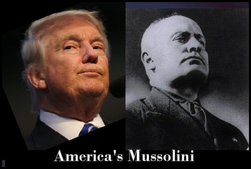 From flickr.com: American Mussolini.  (He wishes.) {MID-179357}