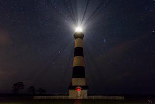Stars over Bodie Light