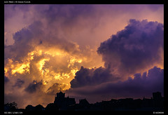 Fantasy Sky (Falcdragon) Tags: sonya7riialpha ilce7rm2 liege liège luik sonyzeisssonnarfe1855mmza sky skyscape clouds storm light colour fantastical yellow gold purple church