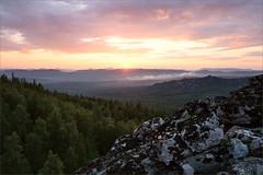 Закат (Kirill & K) Tags: sunset landscape sky forest rock summer evening avalyak august nature south southern ural bashkiria аваляк горы природа пейзаж лес южный урал башкирия лето август закат солнце тучки