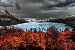 Redblue storm (Valter Patrial) Tags: trees sky sunrise lake forest mountains water blue light clouds tree beautiful snow green panorama carpathian mountain valley peak scenery scenic alpenglow lenticular mountainscape
