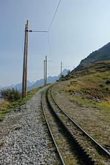 Train tracks @ Tramway du Mont Blanc @ Col du Mont Lachat @ Hike to Baraque Forestière des Rognes & Nid d'Aigle (*_*) Tags: chamonix leshouches hautesavoie 74 savoie france europe alpes alps mountain summer 2017 september été sunny hiketobaraqueforestièredesrognesniddaigle hike hiking marche randonnée tramwaydumontblanc tmb train coldumontlachat