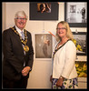 Mayor & Mayoress in front of Award winners (MikeJDavis) Tags: rochdale photographic rps exhibition littleborough cllrianduckworth rochdalephotographicsociety coachhouse