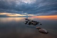 Port Elgin Sunset (B.E.K.) Tags: sunset port elgin lake huron clouds water rocks sky outdoor landscape longexposure ontario canada nikond800