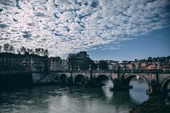 Mackerel sky (Daniele Salutari) Tags: daniele salutari photo photography landscape landscapes city cities italy italia rome roma bridge santangelo tiber tever water urban