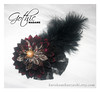 Gothic Madame (Kurokami) Tags: toronto ontario canada japan japanese asia asian woman women girl girls lady ladies tsumami kanzashi folded flower flowers floral blossom blossoms brooch clasp pin corsage gothic madame darari obi maiko feather feathers lace silk