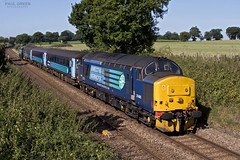 37405 passes through Postwick working 2P18 1036 Norwich - Great Yarmouth 31/8/2017 (Paul-Green) Tags: class 37 374 37405 37716 postwick drs direct rail services aga abellio greater anglia 1036 norwich gt great yarmouth uk gb railways norfolk canon camera flickr fields outdoors august 2017 2p18