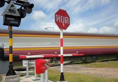 level crossing Buriram train (Matt Jones (Krasang)) Tags: 10 stop nd hoya pro 1000 level crossing train buriram thailand longexposure f16