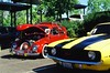 (WadeTobin) Tags: film917 1969 camaro 1966 vw beatle color slide analog chrome saturated car show