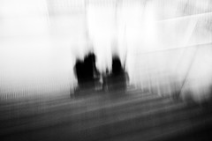 father mother child (ChrisRSouthland) Tags: monochrome blackandwhite blackwhite icm stairs couple mmonochrom elmarit28mmf28 blur blurred schwarzweiss