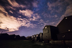 Space Hut (scott.hammond34) Tags: astrophotography astro darksky wallberswick suffolk stars space clouds sky longexposure beach hut 14mm samyang14mmf28 wideangle