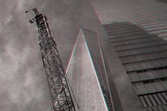 New York, New York (DDDavid Hazan) Tags: newyork ny nyc newyorkcity manhattan wtc worldtradecenter architecture skyscraper anaglyph 3d bw blackandwhite bwanaglyph 3danglyph 3dstereophotography redcyan redcyan3d stereophotography stereo3d