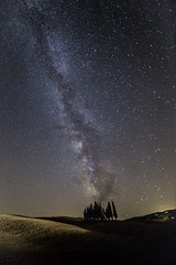 Cipressi di San Quirico (Federico Raviele) Tags: sanquirico cipress milky way night shot canon 6d