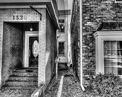 In Between the Alley (that_damn_duck) Tags: blackwhite monochrome architecture buildings alleyway alley structure bw blackandwhite