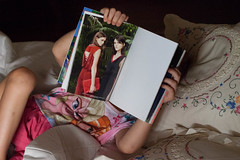 . (Angela Malavenda) Tags: child model home pink book